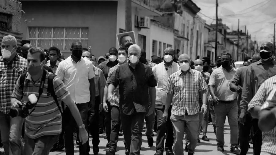 cuba diaz canel en las calles protestas la-tinta
