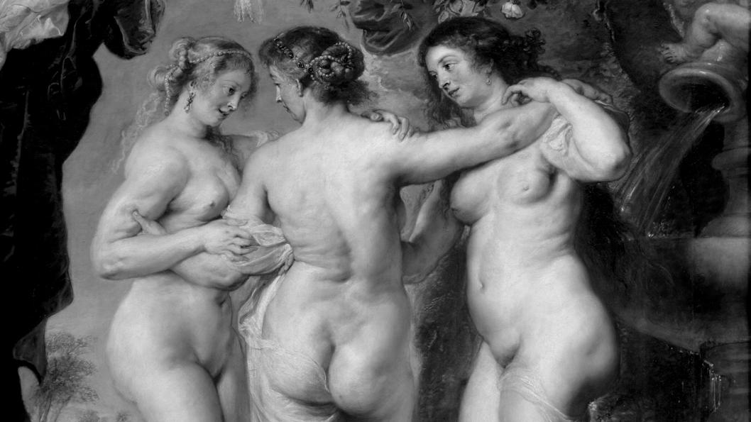 pintura-ilustración-cuadro-Las-tres-Gracias