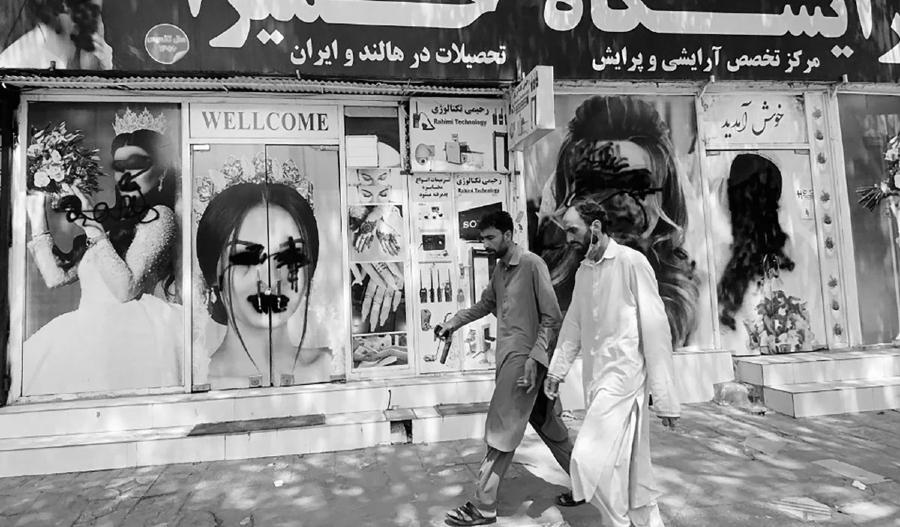 Afganistan Kabul calles taliban la-tinta
