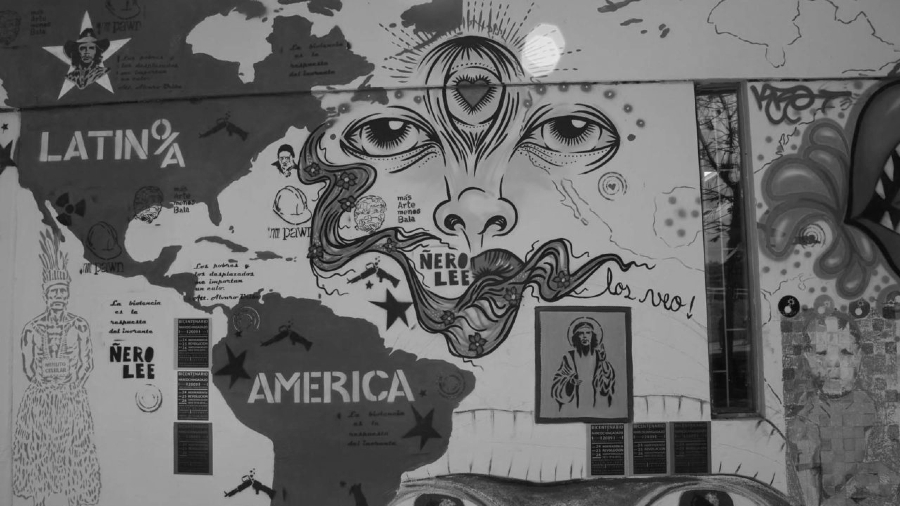 America Latina mural celag la-tinta