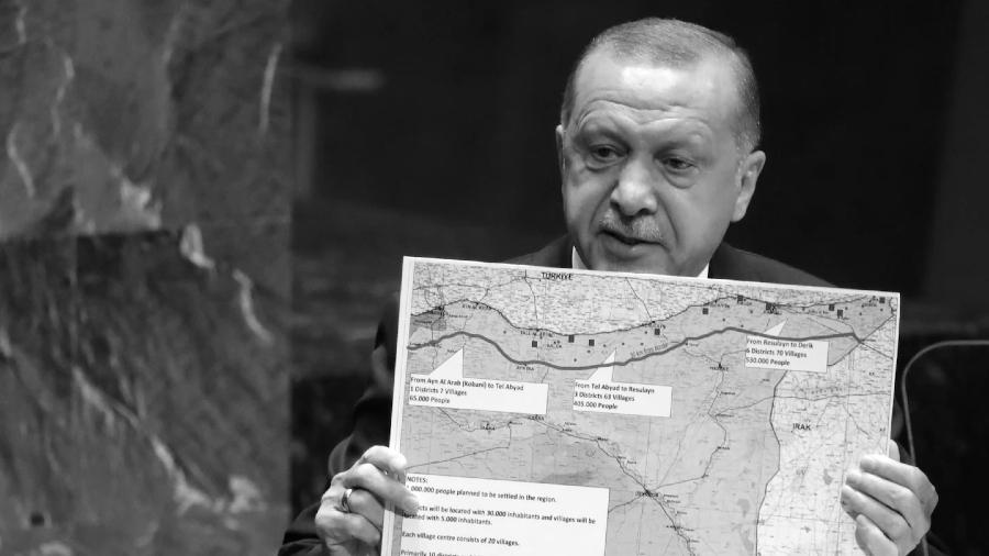 Turquia Erdogan norte de Siria la-tinta