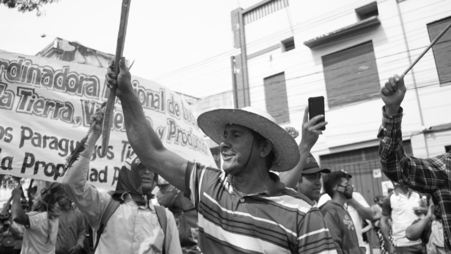 Paraguay protesta campesina la-tinta